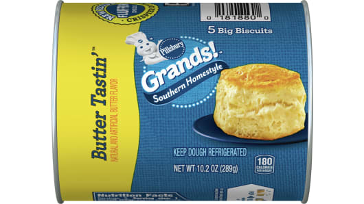 Grands!™ Southern Homestyle Butter Tastin'™ Biscuits 5 ct - Front