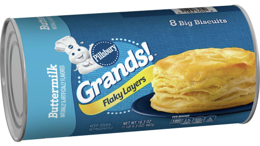 Grands!™ Flaky Layers Buttermilk Biscuits - Left Front-3D