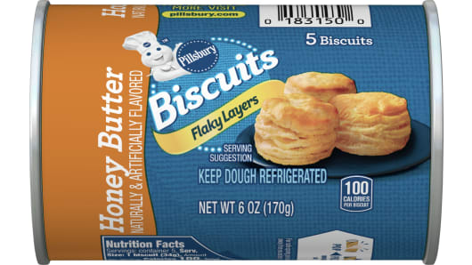Pillsbury™ Flaky Layers Honey Butter Biscuits 5 ct - Front
