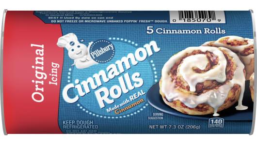 Pillsbury™ Cinnamon Rolls with Original Icing (5 count) - Front