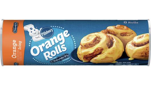 Pillsbury™ Orange Rolls with Orange Icing - Front
