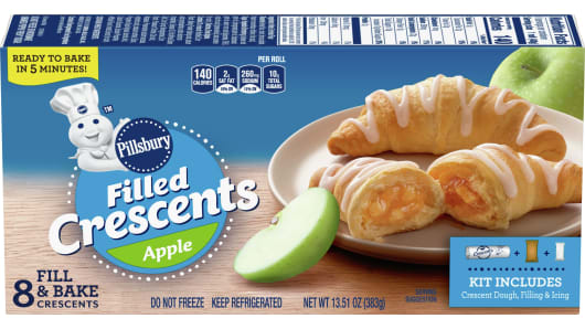 Pillsbury™ Filled Crescents Apple (8 count) - Front