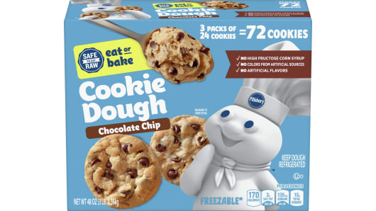 Pillsbury™ Ready to Bake!™ Chocolate Chip Cookie Dough 72ct - Front