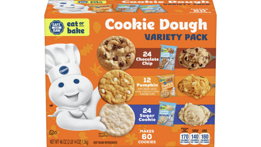 Pillsbury™ Ready to Bake!™ Cookie Dough Variety Pack 60 Count - Front
