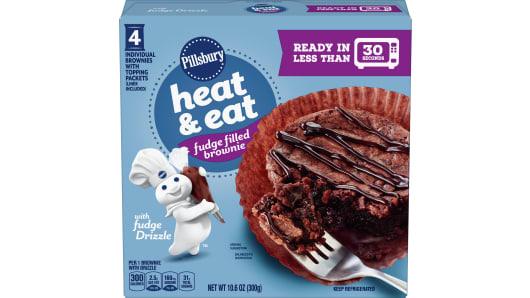 Pillsbury™ Heat & Eat Fudge Filled Brownie - Front