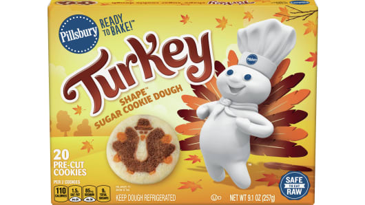 Pillsbury™ Shape™ Turkey Sugar Cookie Dough - Front