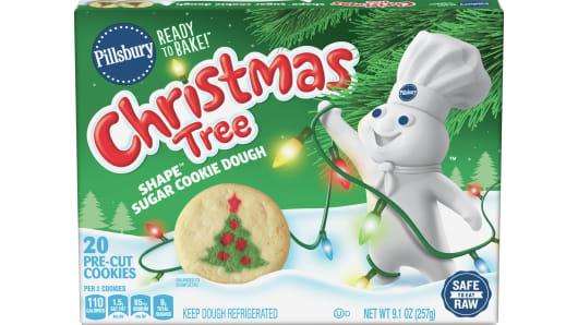 Pillsbury™ Shape™ Christmas Tree Sugar Cookie Dough - Front