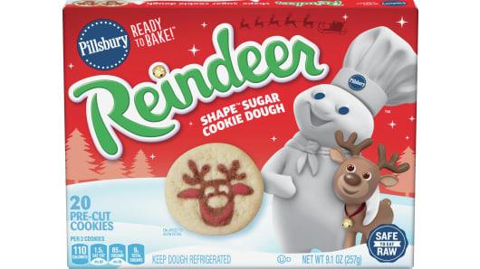 Pillsbury™ Shape™ Reindeer Sugar Cookie Dough - Front