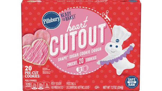 Pillsbury™ Heart Cutout Shape™ Sugar Cookie Dough - Front