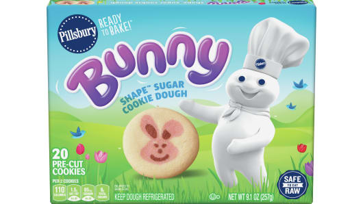 Pillsbury™ Ready to Bake! Bunny Shape Sugar Cookie Dough 20 Count - Front