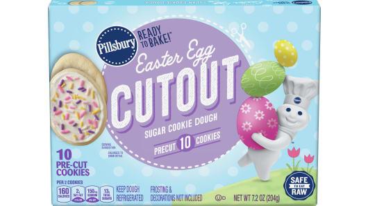 Pillsbury™ Easter Egg Cutout Shape™ Cookie Dough - Front