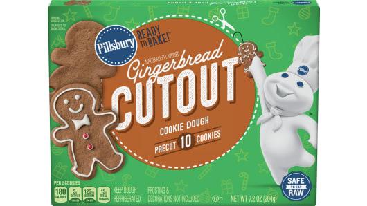 Pillsbury™ Gingerbread Cutout Shape™ Cookie Dough - Front