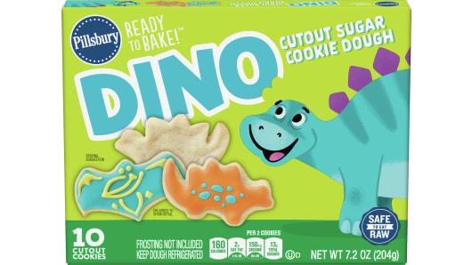 Pillsbury™ Dino Cutout Shape™ Cookie Dough - Front