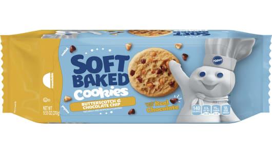 Pillsbury™ Soft Baked Butterscotch & Chocolate Chip Cookies - Front