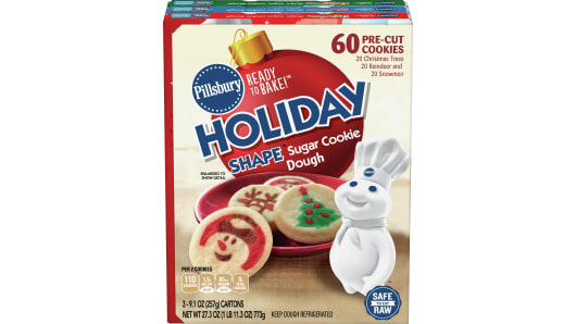 Pillsbury Holiday Shape™ Sugar Cookie Dough 3 Pack - Front