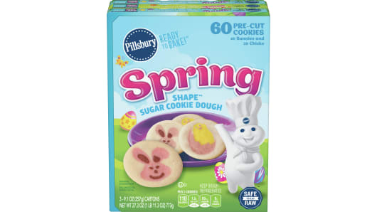 Pillsbury™ Shape™ Spring Sugar Cookie Dough 3pk - Front