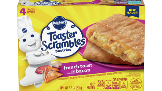 Pillsbury™ French Toast Bacon Toaster Scrambles 4ct - Front