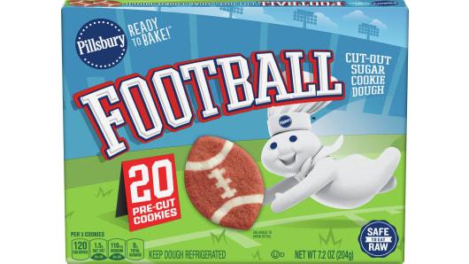 Pillsbury™ Football Shape™ Cutout Cookie Dough - Front