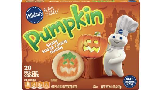 Pillsbury™ Shape™ Pumpkin Sugar Cookie Dough - Front