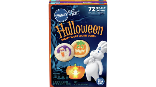 Pillsbury Ready to Bake! Halloween Shape Cookie Dough Variety Pack 72 Count - Front