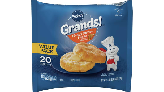 Grands!™ Honey Butter Frozen Biscuits (20 count) - Front