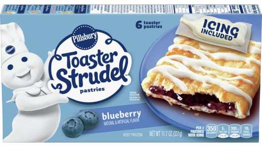 Pillsbury™ Blueberry Toaster Strudel™ - Front