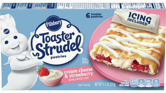 Pillsbury™ Cream Cheese & Strawberry Toaster Strudel™ - Front