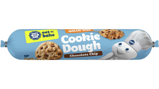 Pillsbury™ Chocolate Chip Refrigerated Cookie Dough (Value Size) - Front