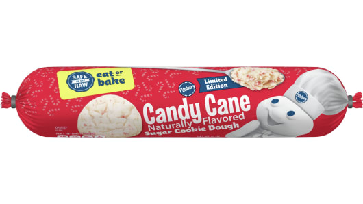 Pillsbury™ Candy Cane Cookie Dough - Front
