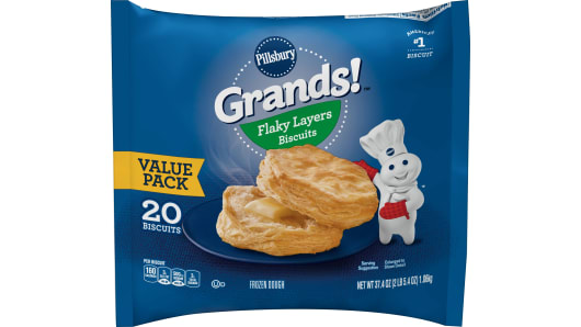 Grands!™ Flaky Layers Frozen Biscuits (20 count) - Front
