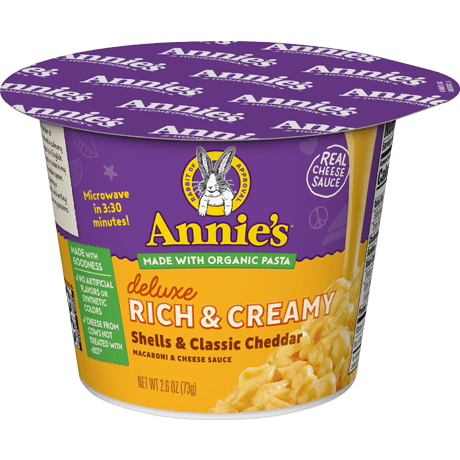 Deluxe Rich and Creamy Shells & Classic Cheddar Microwavable Mac and Cheese Cup