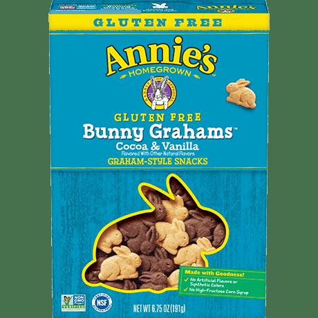 Gluten Free Cocoa and Vanilla Bunny Grahams
