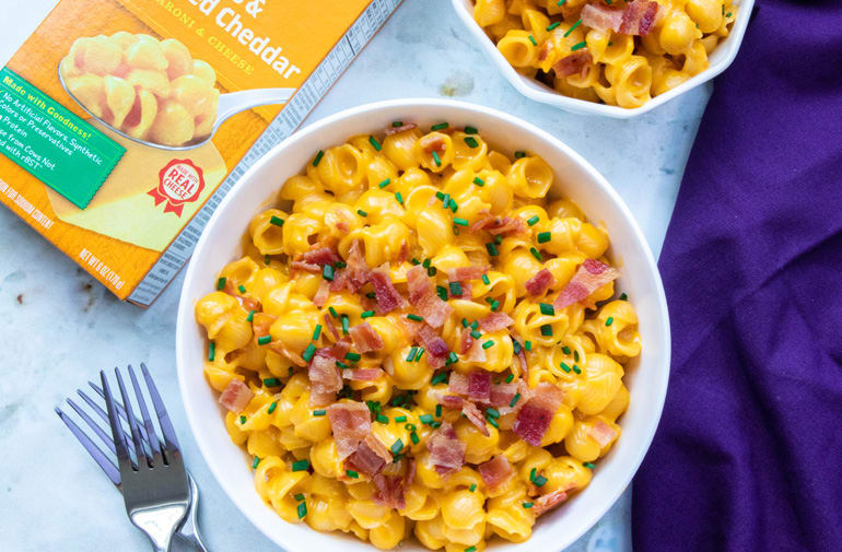 Loaded Baked Potato Mac and Cheese