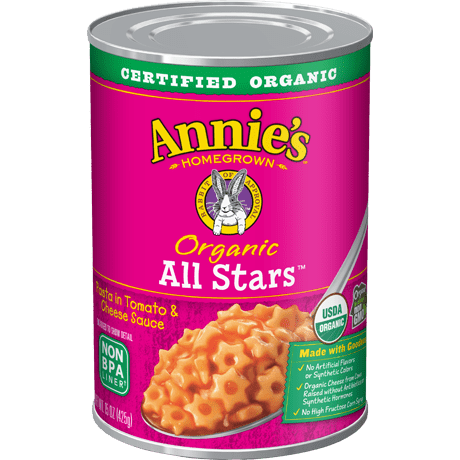 Organic All Stars Pasta in Tomato and Cheese Sauce
