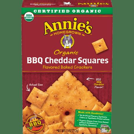 Organic BBQ Cheddar Squares