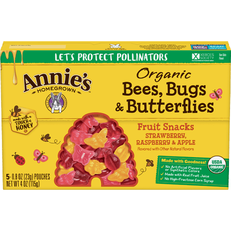 Organic Bees Bugs and Butterflies Fruit Snacks
