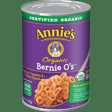 Organic Bernie O's Pasta in Tomato and Cheese Sauce