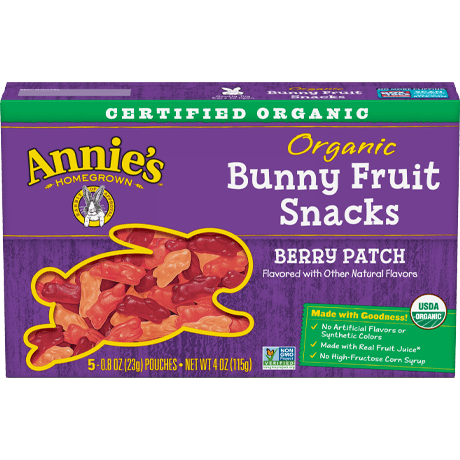 Organic Berry Patch Bunny Fruit Snacks