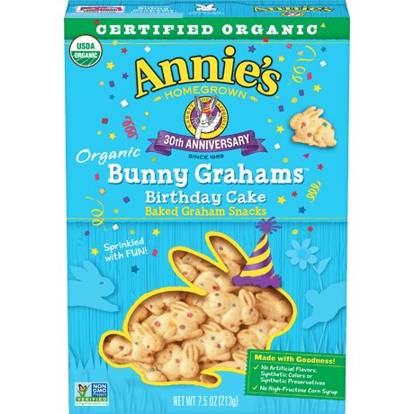 Marvelous Organic Birthday Cake Bunny Grahams Annies Homegrown Personalised Birthday Cards Paralily Jamesorg