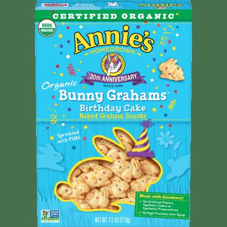 Swell Organic Birthday Cake Bunny Grahams Annies Homegrown Personalised Birthday Cards Veneteletsinfo
