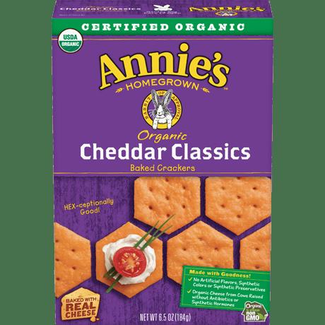 Organic Cheddar Classic Crackers