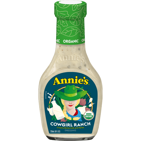 Bottle of Organic Cowgirl Ranch Dressing