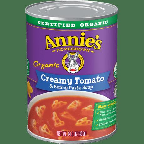 Organic Creamy Tomato and Bunny Pasta Soup