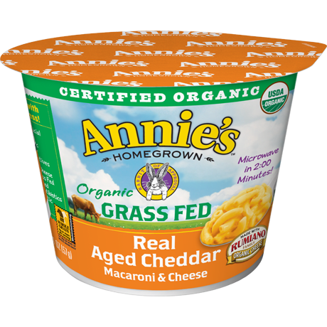 Organic Grass Fed Real Aged Cheddar Microwavable Mac & Cheese Cup