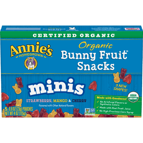 Organic Minis Bunny Fruit Snacks