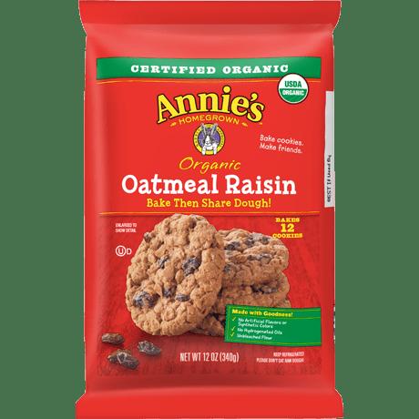 Organic Oatmeal Raisin Bake Share Dough Annie S Homegrown
