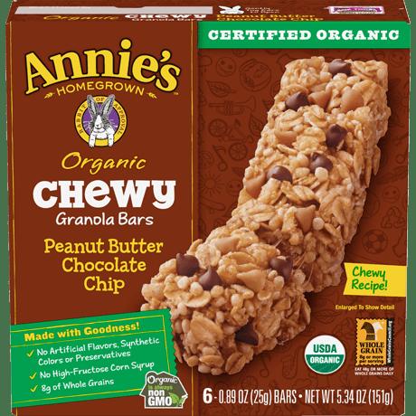 Organic Peanut Butter Chocolate Chip Chewy Granola Bars