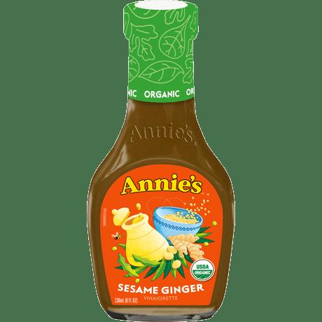 Bottle of Annie's Sesame Ginger dressing