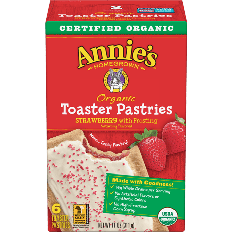 Organic Strawberry Toaster Pastries