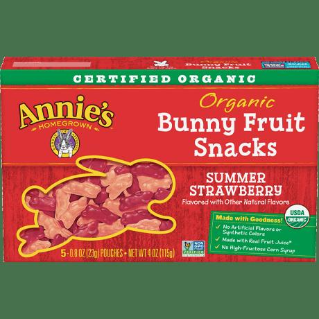 Organic Summer Strawberry Bunny Fruit Snacks